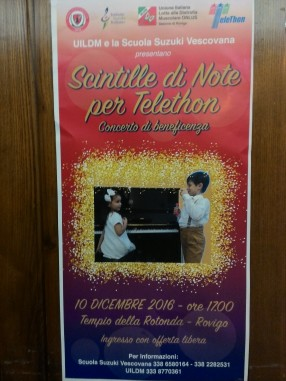 Scintille di note per Telethon - ore 17.00 -  Tempio della Rotonda, Rovigo